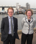 Ben Gummer MP & Vicky Ford MEP on an earlier visit to Ipswich