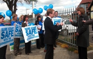 "Ben Gummer confronting Harriet Harman back in 2010. He accused her of lying about Tory plans for Sure Start, saying at the time ""I have a very simple message for anyone involved with Sure Start in Ipswich: the Conservatives have no plans to close any Children's Centres."""